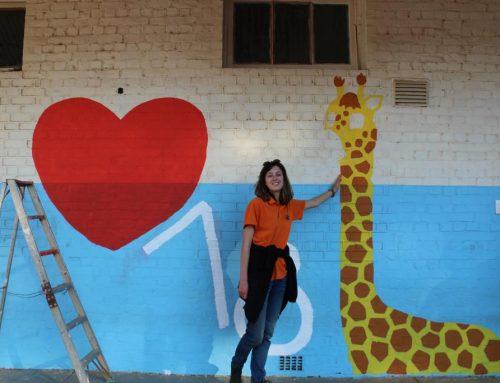 Dag11: De muurschildering ontstaat…
