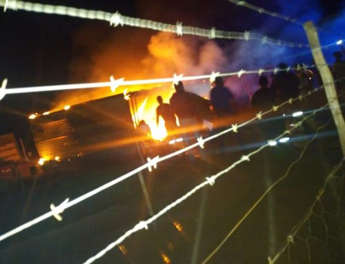 Brand naast ons project…